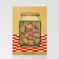 Pickled Pig Revisited Stationery Cards