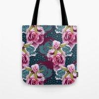 Modern Baroque Rose Tote Bag