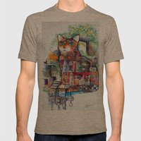 mystic cat Mens Fitted Tee Tri-Coffee SMALL