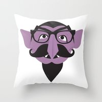 Hipster Count Throw Pillow