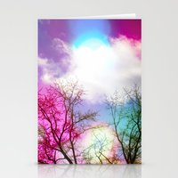 Flavored Skies  Stationery Cards