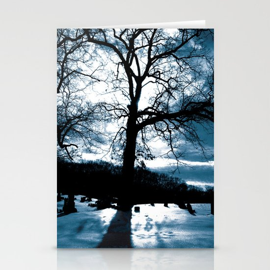 Blue Tree Stationery Card
