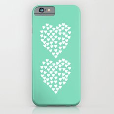 Hearts Heart x2 Mint Slim Case iPhone 6s