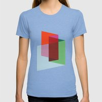 Folds Womens Fitted Tee Tri-Blue SMALL