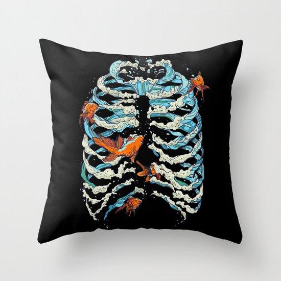 FISH BONE  Throw Pillow