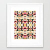 Lemonade Stand Tribal  Framed Art Print