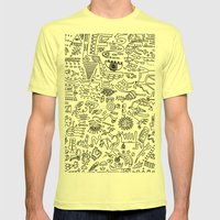 Scattered Mens Fitted Tee Lemon SMALL