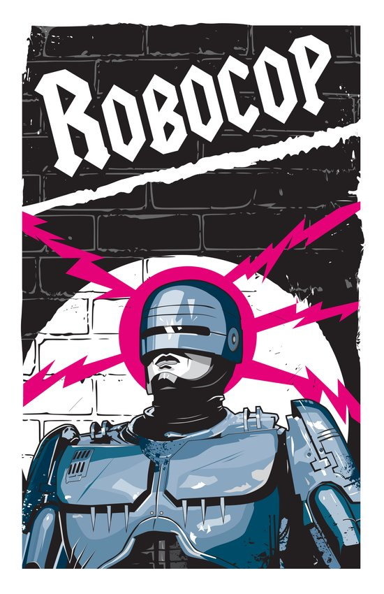Robocop In Love Art Print