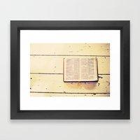 Reading The Psalms Framed Art Print