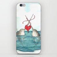 Knitting Narwhals iPhone & iPod Skin