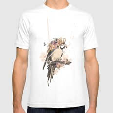 Pearly Parrot  Mens Fitted Tee White SMALL