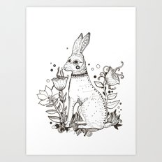 The Hare Art Print