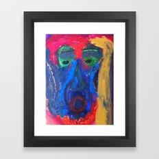Pensive Character Framed Art Print