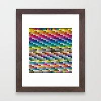 Color Chart Framed Art Print