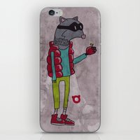 006_raccoon iPhone & iPod Skin