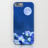 iPhone & iPod Case featuring Cornflowers in the moonlight by Valerie Anne Kelly