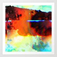 23-03-44 (Cloud Glitch) Art Print