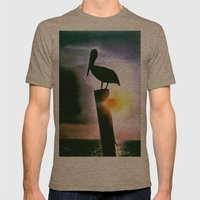 PELICAN PATROL Mens Fitted Tee Tri-Coffee SMALL