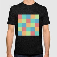 Pixels Mens Fitted Tee Tri-Black SMALL