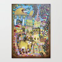 THE CITY OF 100 CATS Canvas Print