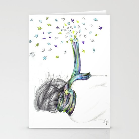 Leave Me Alone Stationery Card