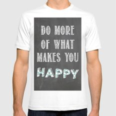 Quote, inspiration chalk board  White Mens Fitted Tee SMALL