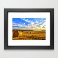 Halcyon Harvest Days Framed Art Print