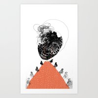 Moonrise Mountain (mothe… Art Print