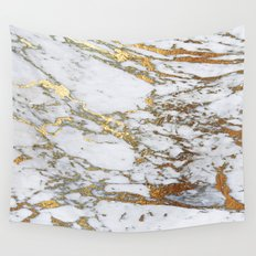 Gold Marble Wall Tapestry