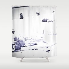 Overrun by Snow Shower Curtain