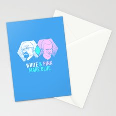 WHITE & PINK MAKE BLUE Stationery Cards