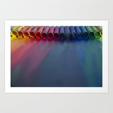 Crayons: Just Melted Art Print