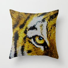 Eye of the Tiger Throw Pillow
