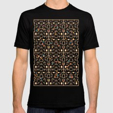 Busy World Mens Fitted Tee Black SMALL