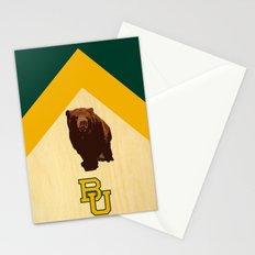 Baylor University - BU logo with bear Stationery Cards