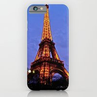 iPhone & iPod Case featuring Eiffel Tower at Night by JuliHami