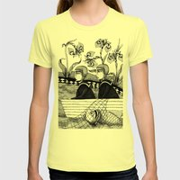 The Golden Fish (2) Womens Fitted Tee Lemon SMALL