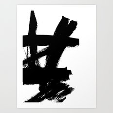 Abstract black & white 2 Art Print
