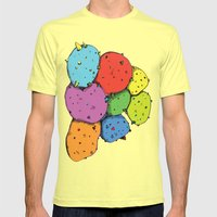 Psychedelic Potatoes  Mens Fitted Tee Lemon SMALL