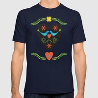 Love is in the Air Mens Fitted Tee Navy SMALL