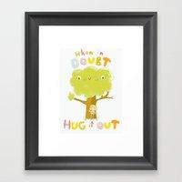 When In Doubt, Hug It Ou… Framed Art Print