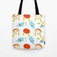 red riding hood pattern Tote Bag