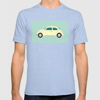 VW Beetle Mens Fitted Tee Tri-Blue SMALL
