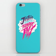 Justice Like A Thunderbolt iPhone & iPod Skin