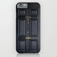 Classic Old sherlock holmes 221b door iPhone 4 4s 5 5c, ipod, ipad, tshirt, mugs and pillow case iPhone 6 Slim Case