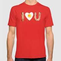 Bacon Mens Fitted Tee Red SMALL