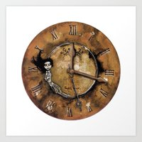 Counting Out Time Art Print