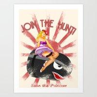 Princess Peach Pin Up Art Print