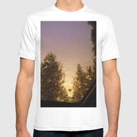 Sunset Through Raindrops  Mens Fitted Tee White SMALL