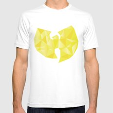Wu-Tangle White Mens Fitted Tee SMALL